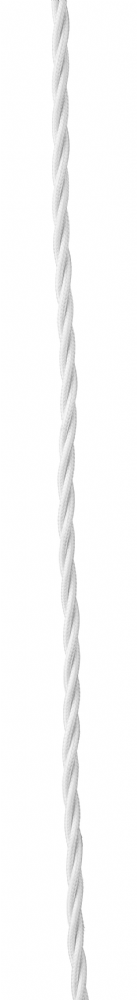 Dar 3 Core Twisted Braided Cable Ivory 1 Metre ACC17